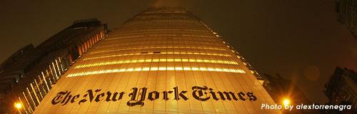 米新聞「ニューヨーク・タイムズ」が本社ビル売却へ、07年新築も