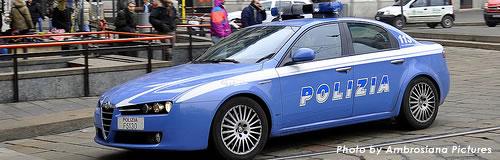 イタリア警察・パトカーが出動できず、不況で整備費捻出困難